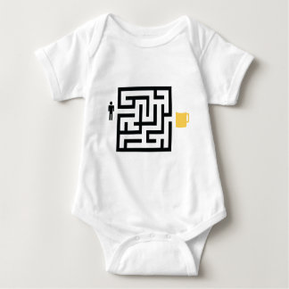 the way to beer icon baby bodysuit