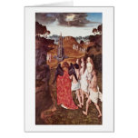The Way To Paradise By Bouts Dieric Greeting Card