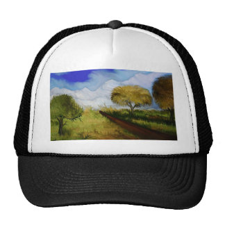 The way to the snowy mountains by rafi talby trucker hat