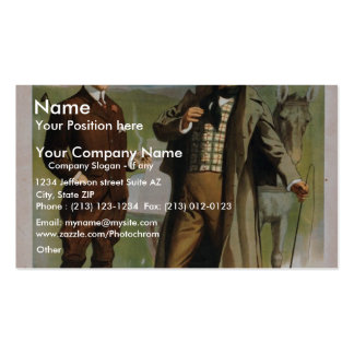 The Way Tokenmare, 'Tis A Foine Cigar' Vintage The Business Card Templates