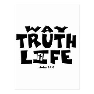 The Way, Truth, Life Postcard
