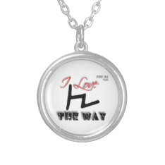 The Way (tsade) Silver Plated Necklace at Zazzle