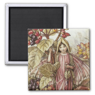The Wayfaring Tree Fairy 2 Inch Square Magnet