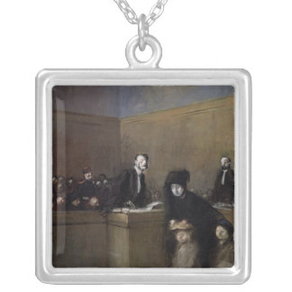 The Weak and the Oppressed, c.1910 Silver Plated Necklace