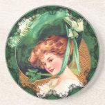The Wearing Of The Green Irish Coaster