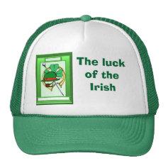 The wearing of the green, Irish Trucker Hats
