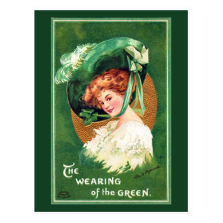 The Wearing Of The Green Vintage Postcard