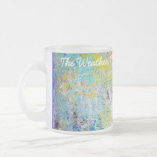 The Weather Map. 10 Oz Frosted Glass Coffee Mug