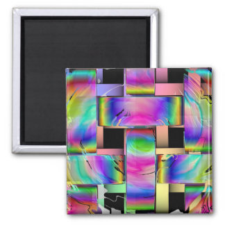 The Weave 2 Inch Square Magnet