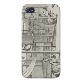 `The Weaving of Flower'd Silks', Two Women at Work iPhone 4/4S Case