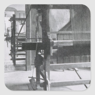 The Weaving Workshop, from the Workshops of the Ba Square Sticker