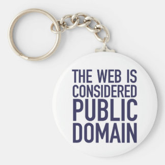 The Web Is Considered Public Domain - Blue Keychain
