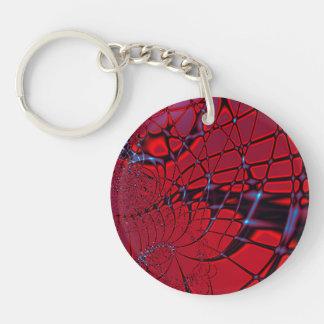 The Web Single-Sided Round Acrylic Keychain