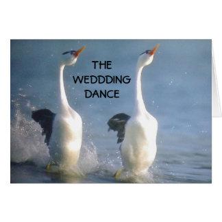 THE WEDDDING DANCE GREETING CARD