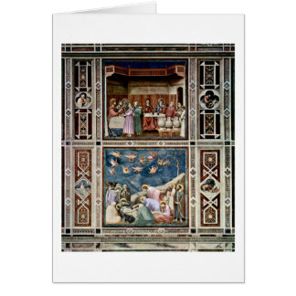 The Wedding At Cana By Giotto Di Bondone Card