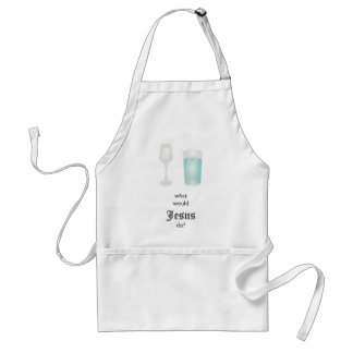 the wedding at Cana  dilemma Adult Apron