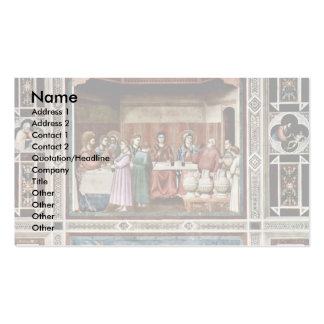 The Wedding At Cana Lower  By Giotto Di Bondone Business Cards