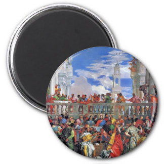 The Wedding At Cana., Wedding At Cana, 2 Inch Round Magnet