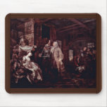 "The Wedding Banquet "" By Hogarth William Mouse Pad"