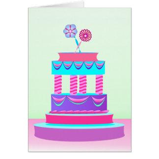 The wedding cake card