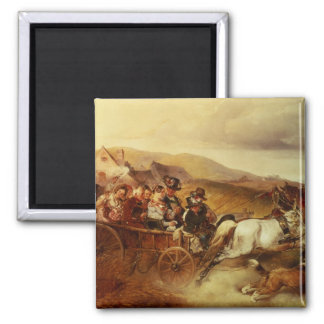 The Wedding Cart 2 Inch Square Magnet