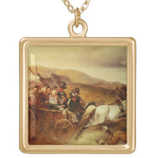 The Wedding Cart Gold Plated Necklace