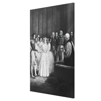 The wedding ceremony stretched canvas print