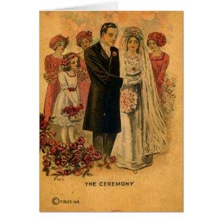 The Wedding Ceremony Digital Art Card