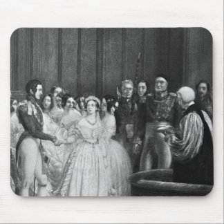 The wedding ceremony mouse pad