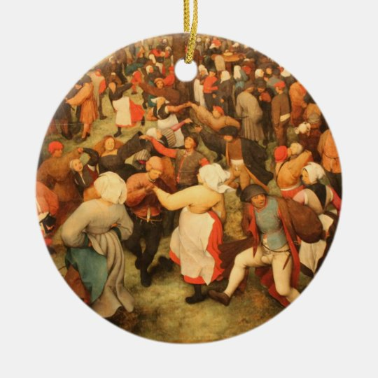 The Wedding Dance - 1566 Ceramic Ornament
