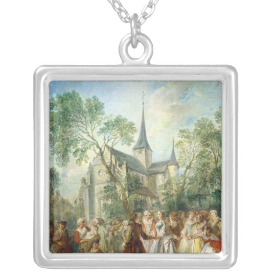 The Wedding Dance Silver Plated Necklace