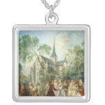 The Wedding Dance Square Pendant Necklace