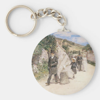 The Wedding March by Robinson, Vintage Newlyweds Keychain