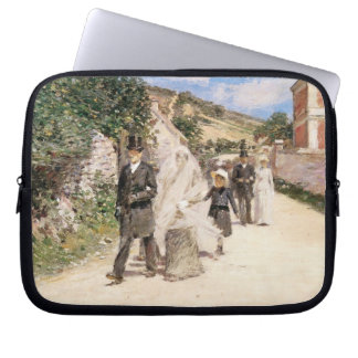 The Wedding March by Robinson, Vintage Newlyweds Laptop Sleeve