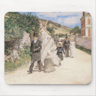 The Wedding March by Robinson, Vintage Newlyweds Mouse Pad