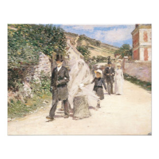 The Wedding March by Theodore Robinson Newlyweds Personalized Invite
