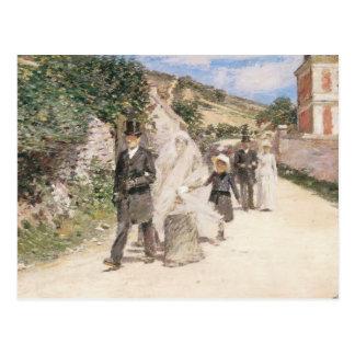 The Wedding March by Theodore Robinson, Newlyweds Postcard