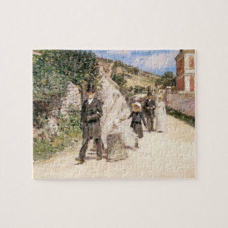 The Wedding March by Theodore Robinson, Newlyweds Jigsaw Puzzle