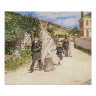 The Wedding March, Theodore Robinson Poster
