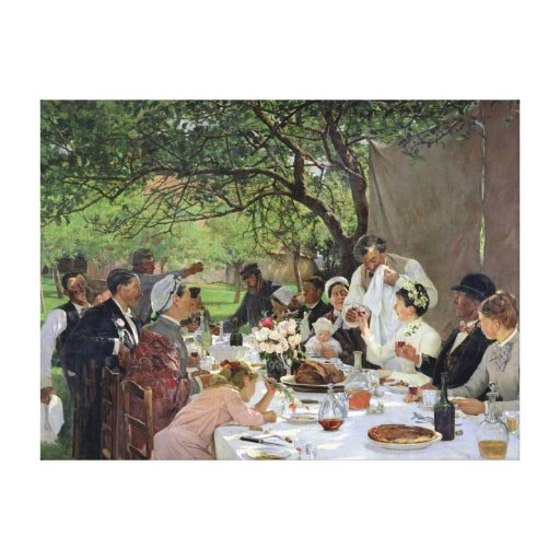 The Wedding Meal at Yport, 1886 Canvas Print