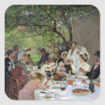 The Wedding Meal at Yport, 1886 Square Sticker