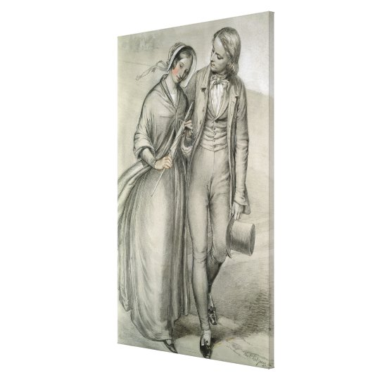 The Wedding Morning - The departure, c.1846 Canvas Print