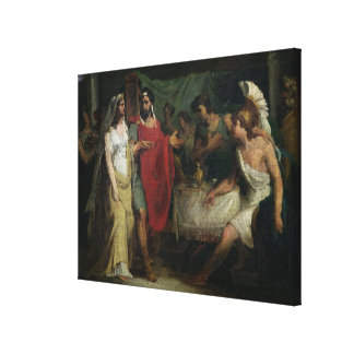 The Wedding of Alexander the Great  and Roxana Canvas Print