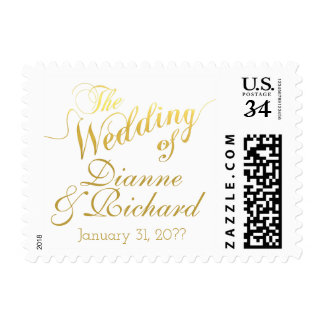 the wedding of... our names postage