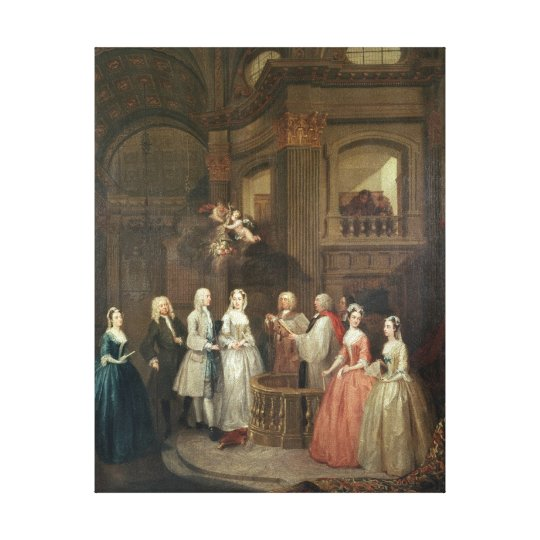 The Wedding of Stephen Beckingham and Mary Cox Canvas Print