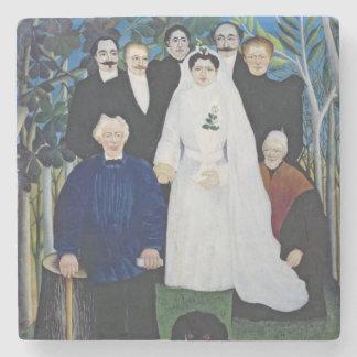 The wedding party, c.1905 stone coaster