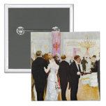 The Wedding Reception, c.1900 2 Inch Square Button