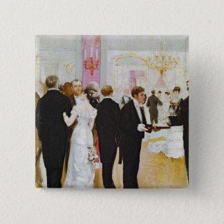 The Wedding Reception, c.1900 Pinback Button