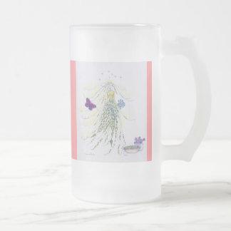 The wedding-veil elve 16 oz frosted glass beer mug