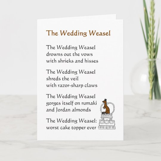The Wedding Weasel A Funny Poem Card